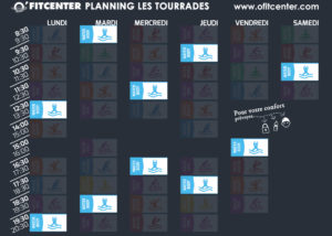 Planning cours Water Body Cannes la Bocca