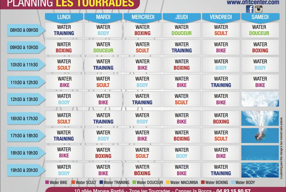 O'FITCENTER vous propose 7 cours différents de sport aquatique