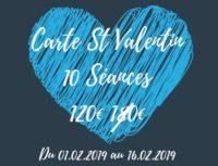 Promo St valentin : écnomisez 60€ sur la carte 10 séances